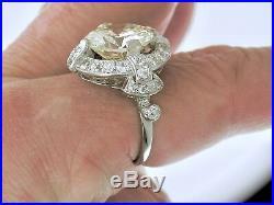 Diamond Engagement RingArt Deco Platinum 6.07ct Diamond Ring, Circa 1915