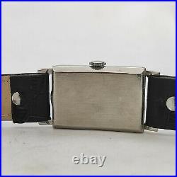 Extremely Rare Vintage 1930s Zenith Tank Art Deco 8 3/4F Besançon Perfect