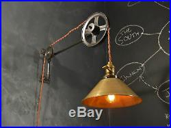 Industrial Lighting Vintage Pulley Lamp Steampunk Sconce Light Art Deco
