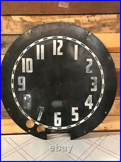 Large Vintage Aztec Neon Clock By Electric Neon Clock Co. Art Deco 1930's