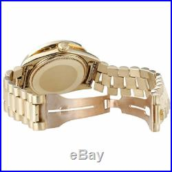 Mens Diamond Rolex Day-Date President 18k Yellow Gold Watch with Band 4 Ct