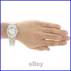 Mens Rolex Datejust 36mm Roman # Diamond Dial Watch Oyster Stainless Steel 4 Ct
