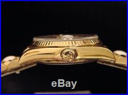 Mens Rolex Solid 18KT 18k Yellow Gold Day Date President Linen Diamond 18038