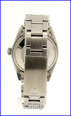 Mens Vintage ROLEX Oyster Perpetual Date 34mm YELLOW Dial Stainless Steel Watch