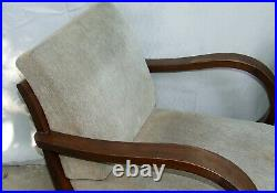 Pair of Art Deco Armchairs. Club Cocktail Chairs. Antique Vintage 1920s Halabala