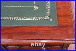 Replacement gold tooled desk or table leather