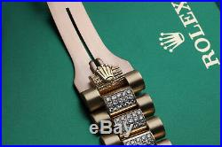 Rolex 36mm Day-Date Pave Roman Diamond Dial 18k Yellow Gold Diamond Watch