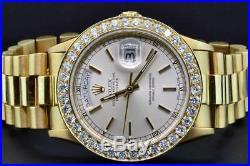 Rolex Watch President Day-Date 18K Yellow Gold Custom Diamond Watch Bezel 36mm