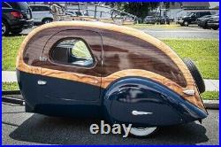 Teardrop Trailer Camper RV Camping RV antique vintage art Deco, travel trailer