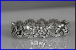 Tiffany & Co Vintage Estate Platinum Diamond Bracelet 22.7 Carats Art Deco Style