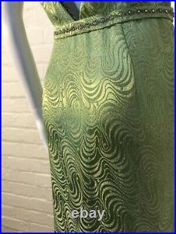 True Vintage 1930s Evening Dress Gown Lame Diamanté & Beaded Royal Connection