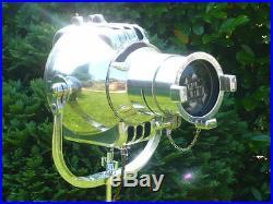 VINTAGE THEATRE LIGHT ANTIQUE FLOOR LAMP INDUSTRIAL LOFT DESIGN EAMES STARCK 50s