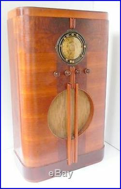 VIntage Art Deco GRUNOW 589 WORKING & Beautifully Restored AM & SHORT WAVE