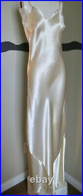 Vintage 1930s Dress Gown Silk Charmeuse