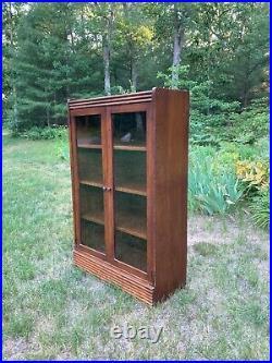 Vintage / Antique 2 Glass Door Bookcase / Display Cabinet Art Deco 1920s 1930s