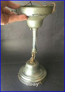Vintage Antique Art Deco Ceiling Light Glass Shade Lamp Fixture Chandelier Mount