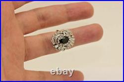 Vintage Art Deco Cluster Engagement Cocktail Ring 2.21 CT Diamond 14K White Gold