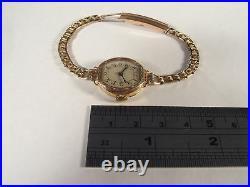 Vintage Art Deco Ladies 9ct Gold Case Uno Wrist Watch