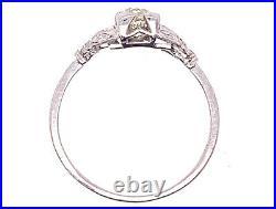 Vintage Diamond Engagement Ring. 70ct I/SI1 Art Deco Antique Platinum
