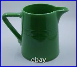 Vintage Homer Laughlin Harlequin MEDIUM GREEN pitcher jug VERY RARE