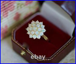 Vintage Jewellery Ring Opal Gold Dress Antique Art Deco Jewelry Size 8 P1/2