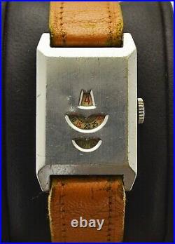Vintage Jump Hour Watch 24.5 x 38 mm Case Swissmade Mens Handwinding Art Deco