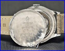 Vintage MOVADO Calatrava Cal. 75, Steel 35mm case, Sector Dial, 40's gents watch
