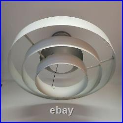 Vintage Mid Century Modern / Art Deco Commercial Tiered Metal Light Fixture
