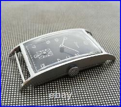 Vintage Oversize Stowa German Art Deco Rectangular Watch 1930s All Original