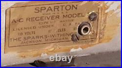 Vintage Sparton Model 557 Blue Mirror Radio 1936 Art Deco Rare Working Condition