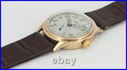 Vintage TUDOR Small Rose 9ct Solid Gold Mid Size Mens Wrist Watch